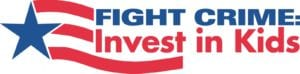 the blue and red logo for Fight Crime: Invest in Kids is pictured