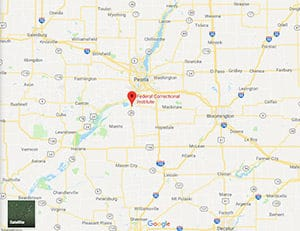 A Google Maps image of FCI Pekin federal prison in Illinois