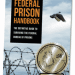 The cover of Federal Prison Handbook is pictured with the seal of the Eric Offer Book Award on it