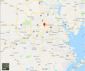 A Google Maps image of FDC Houston federal prison in Texas