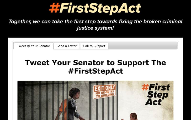 First Step Act website